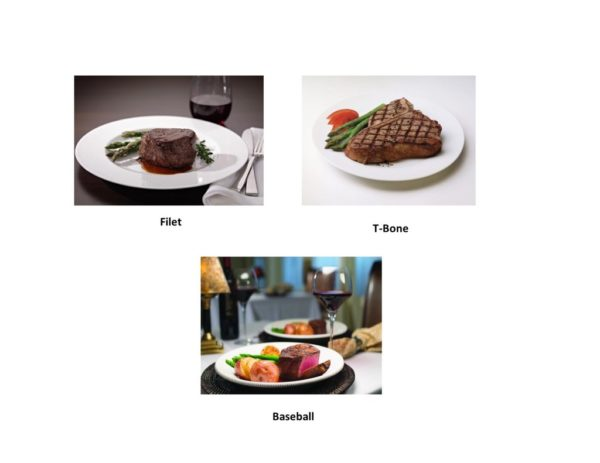 Steakhouse Classic: Filet, T-Bone, Baseball