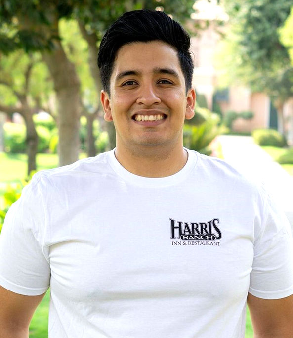 Model wearing Harris Ranch T-Shirt