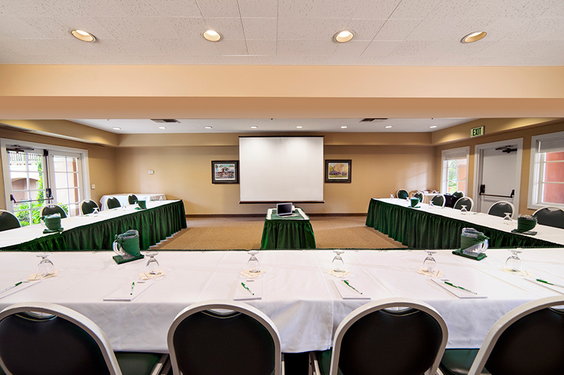 Golden Gate Room set for meeting at Harris Ranch