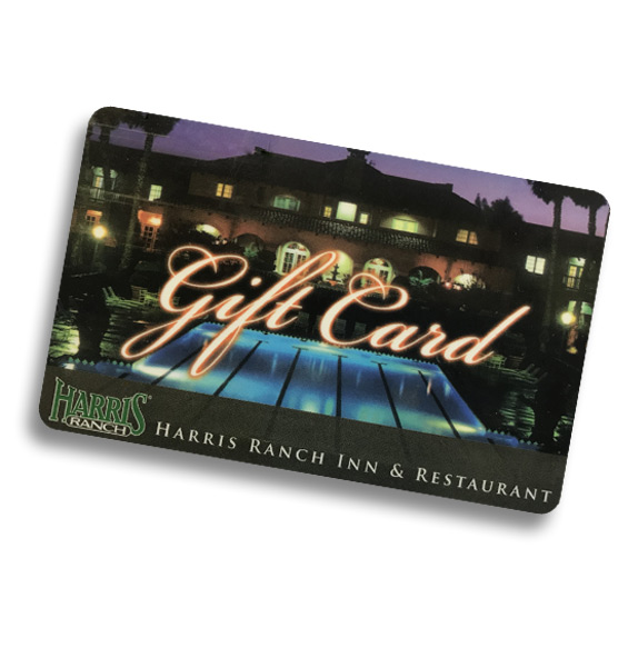 Gift Card Image. Harris Ranch