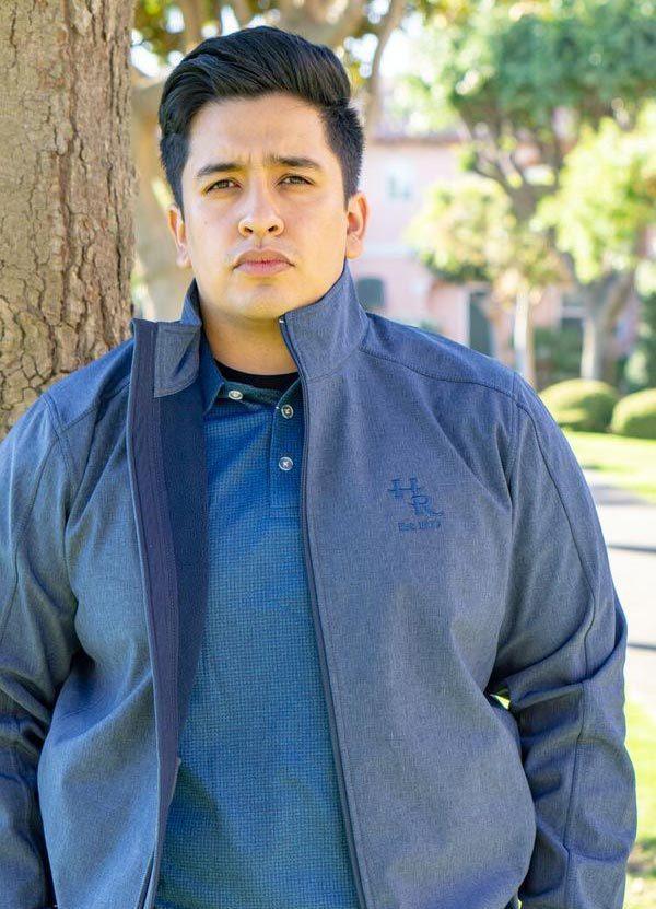 Model wearing Harris Ranch Men's Jacket