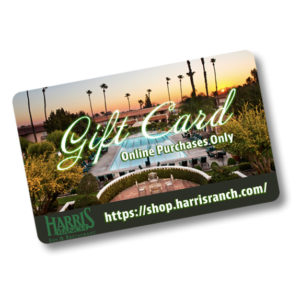 Gift Card image. Online purchases only https://shop.harrisranch.com