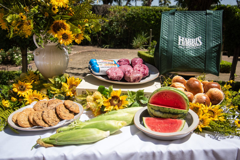 Homerun Package, includes beef, rolls, corn, fruit and cookies