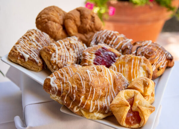 Box of various Danish pastries available as the Danish Variety Box